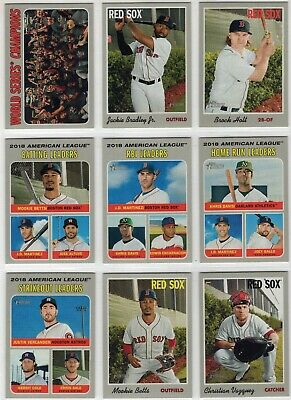 2019 Topps Heritage & Heritage High Number Boston Red Sox Team Set W/SPs (1-725)