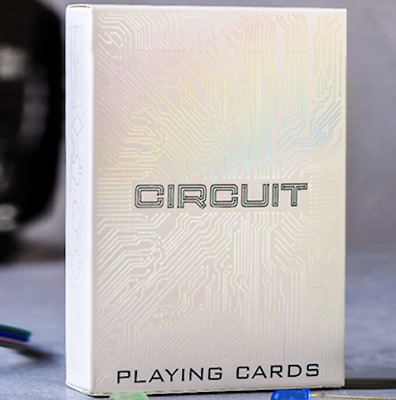 Circuit (White) Playing Cards by Elephant Playing Cards