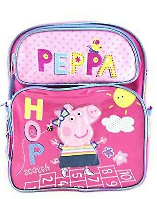 """Peppa Pig + Pals 16"""" Backpack with Adjustable straps and large compartments-New!"""