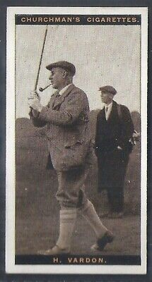 Churchman-Famous Golfers Golf (Standard Size)-#47- Harry Vardon