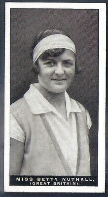 Players Overseas Issue-Lawn Tennis-#36- Miss Betty Nuthall