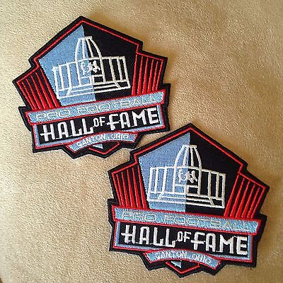 🏈2-NFL PRO FOOTBALL HALL OF FAME CANTON OHIO Logo Iron-on Jersey/Jacket PATCHES