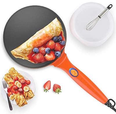LIVEN Electric Crepe Maker Automatic Temperature Control with Power Switch