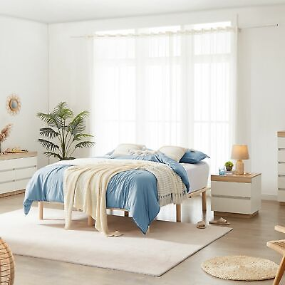 Platform Bed Base Frame Pine Wooden King Single Double Queen Natural Toxic Free