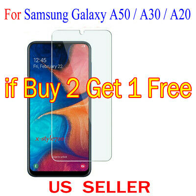1x Clear Screen Protector Guard Cover Film For Samsung Galaxy A50 / A30 / A20