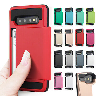 Hybrid Card Holder Case Cover for Samsung S10 S10e S10+ S9 Plus 5G Note 9 A106