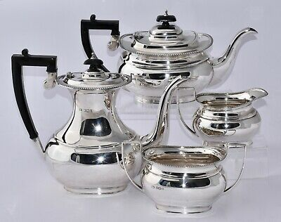 1952 Vintage 4 Piece Sterling Silver Tea & Coffee Service - Nearly 2kg!