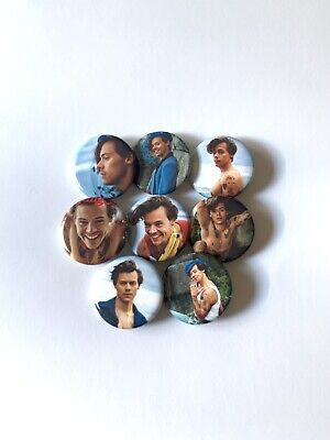 "Harry Styles 1.25"" Rolling Stone 2019 Buttons Pins Set Of 8"