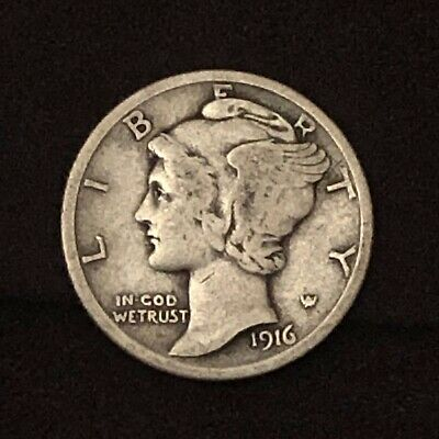 "/""VERY FINE condition/""  Over /""92/"" Years Old each 1925-P SILVER Mercury Dime"