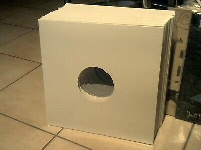 "30 x NEW 12"" LP WHITE CARDBOARD CARD OUTER RECORD SLEEVES WITH 3MM SPINE"