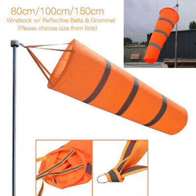 150cm Reflective Windsock Outdoor Airport Garden Patio Lawn Wind Sock Bag Flag