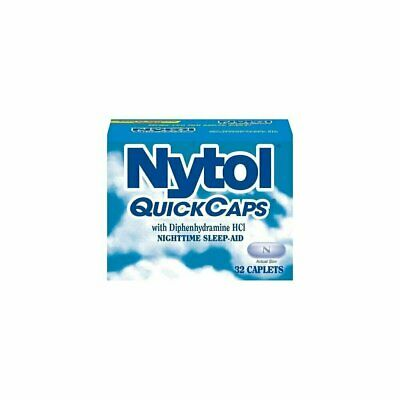Nytol QuickCaps Nighttime Sleep-Aid Caplets W/ Diphenhydramine HCL, 32Ct, 6 Pack
