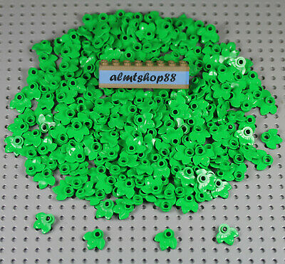 LEGO LOT OF 25 NEW LIME GREEN 4 X 3 LEAVES LEAF PARTS FOR TREES BUSHES