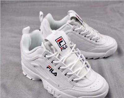 Chaussures de sport FILA Disruptor II 2 authentiques chaussures blanches unisexe