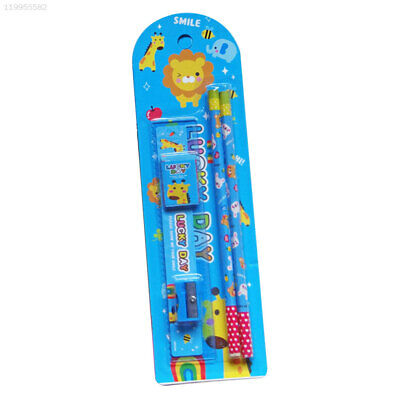 School Educational Supplies Stutent Pencil Cartoon Stationery Set Set Erasers