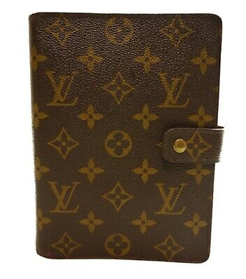 Authentic LOUIS VUITTON Agenda MM notebook cover PVC #7509