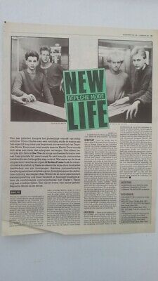DEPECHE MODE 'new life' 1981 Dutch  ARTICLE / clipping