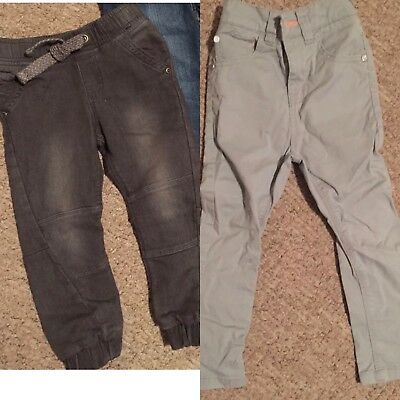 2 Pairs Of Boys Jeans Next / F&F Age 3-4 Grey Charcoal
