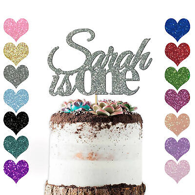 Surprising Personalised 1St Birthday Cake Topper Custom Any Name Age Glitter Personalised Birthday Cards Paralily Jamesorg