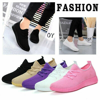Women  Air Cushion Sneakers Breathable Mesh Walking Slip-On Running Casual Shoes