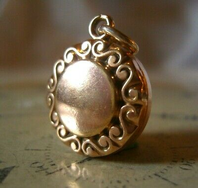 Antique Pocket Watch Chain Fob 1890s Victorian 10ct Rose Gold Filled Ornate Fob