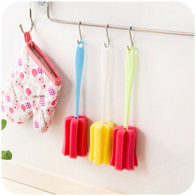 Kitchen Cleaner Tool Sponge Brush For Wineglass Bottle Coffe Tea Glass Cup、2~GN