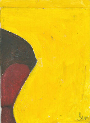 Ben Carrivick - Signed Contemporary Oil, Abstract Composition in Yellow