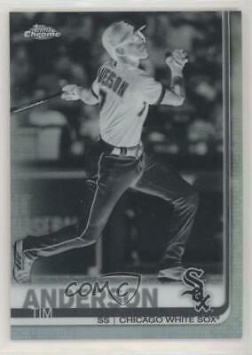 2019 Topps Chrome Negative Refractor #186 Tim Anderson Chicago White Sox Card