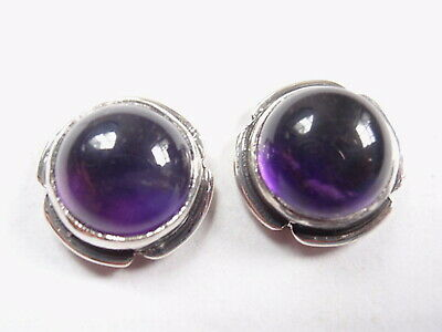 Round Black Onyx with Grooved Perimeter 925 Sterling Silver Stud Earrings New