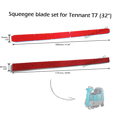 "Squeegee blade set for Tennant T7 (32"") - FREE WORLDWIDE SHIPPING!"