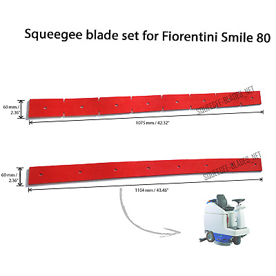 Squeegee blade set for Fiorentini Smile 80
