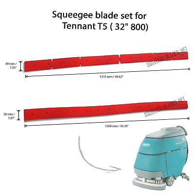 "Squeegee blade set for Tennant T5 (32"", 800 mm) FREE SHIPPING"