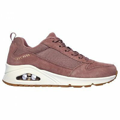 SKECHERS UNO Roundabout Trainers Womens Suede Mesh Lace Up