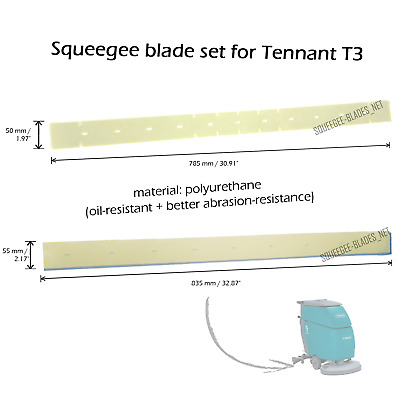Squeegee blade set for Tennant T3 (PU) - FREE WORLDWIDE SHIPPING!