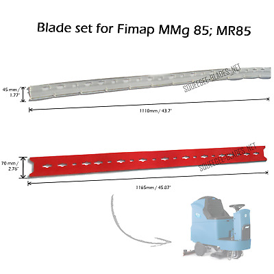 Squeegee blade set for Fimap MMg 85/MR85 (front blade: PU) FREE SHIPPING!