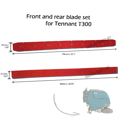 Squeegee blade set for Tennant T300. FREE WORLDWIDE SHIPPING!