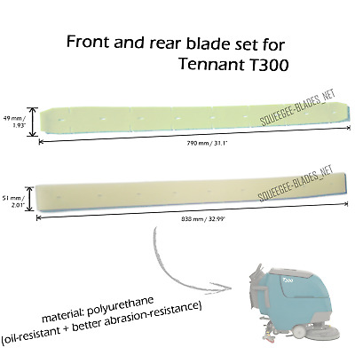 Squeegee blade set for Tennant T300 (PU) - FREE WORLDWIDE SHIPPING!