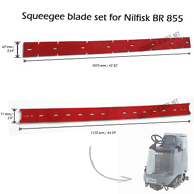 Squeegee blade set for Nilfisk BR 855 FREE WORLDWIDE SHIPPING!
