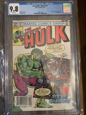 Incredible Hulk #271 Newsstand Variant CGC 9.8 First Appearance Rocket Raccoon