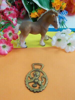 ANTIQUE HORSE BRASS - LION - ORNAMENT - HANG ON WALL - 55 x 40 mm # 5