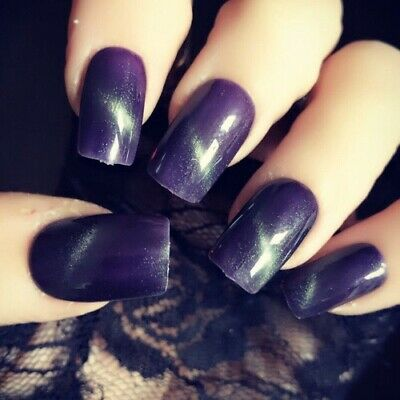 Hand Painted False Nails Witch Green Square Short Press On Nails