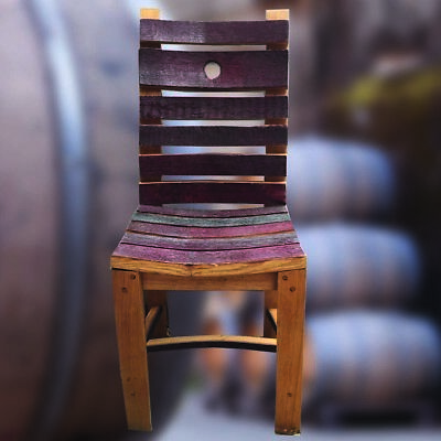 Rustic Style Recycled Solid Oak Wine barrel Stave Chair   Garden Furniture