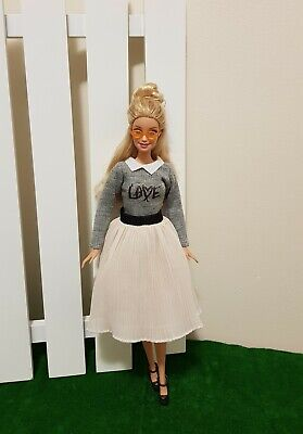 New sleeve top and pleated skirt outfit clothes  for your Barbie doll Au seller