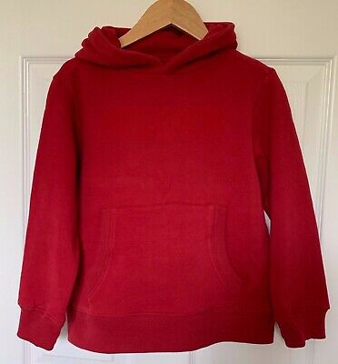 BNWT Boys NEXT Dark Red NYC Cotton Jersey Hooded Top - Age 7 Yrs