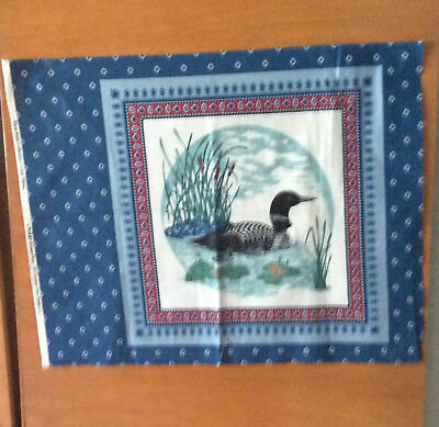 """Loon Pillow Cut-Out Water Birds Collection Cranston Print Works 18/"""" /& 11/"""" Ducks"""