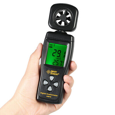 LCD Digital Wind Speed Meter Anemometer Thermometer Air Velocity Tester C1G4