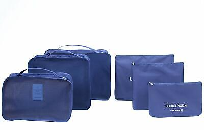 6 sets travel Pack Organizers Cubes Luggage Compression Clothes/Socks Pouches