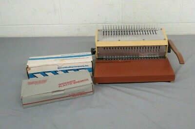Vintage GEBCO General Binding Corporation COMBO Binding Machine Plastic Bindings