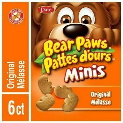 Dare Bear Paws, Minis, Original, Cookies, 210g/7.4oz., {Imported from Canada}
