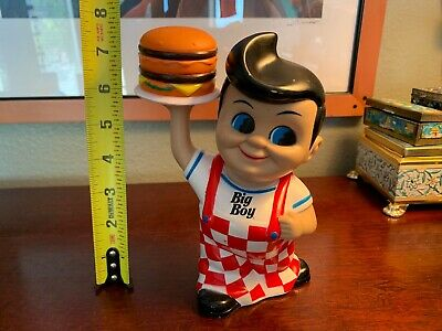 Bobs Big Boy Coin Piggy Bank 2010 Restaurant Vintage Rare Memorabilia 8 Inch Wow